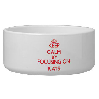 Keep calm by focusing on Rats Pet Food Bowls