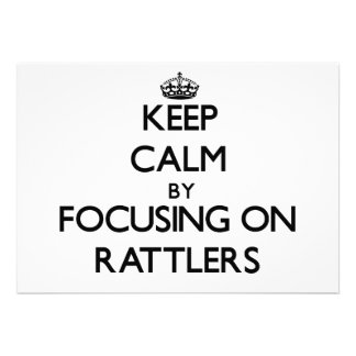 Keep Calm by focusing on Rattlers Custom Invitation