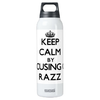Keep Calm by focusing on Razz 16 Oz Insulated SIGG Thermos Water Bottle