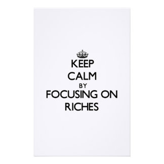 Keep Calm by focusing on Riches Stationery Paper