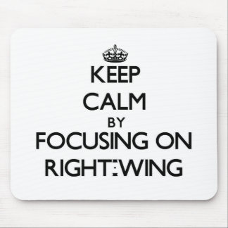 Keep Calm by focusing on Right-Wing Mouse Pad