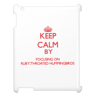 Keep calm by focusing on Ruby-Throated Hummingbird Case For The iPad 2 3 4