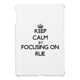 Keep Calm by focusing on Rue Case For The iPad Mini