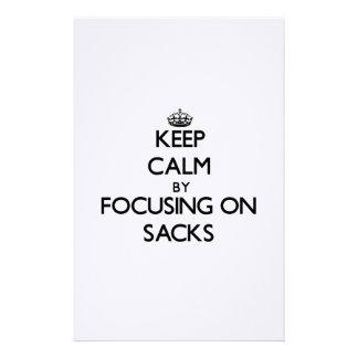 Keep Calm by focusing on Sacks Customized Stationery