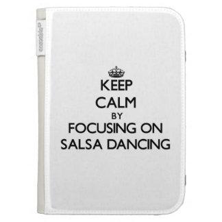 Keep Calm by focusing on Salsa Dancing Kindle Keyboard Case
