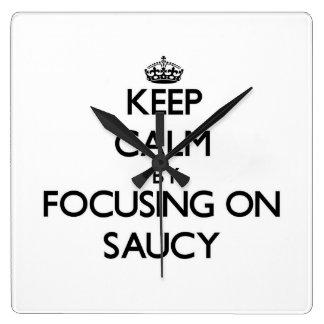 Keep Calm by focusing on Saucy Wallclocks
