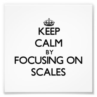 Keep Calm by focusing on Scales Photo Print