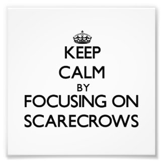 Keep Calm by focusing on Scarecrows Photo Art