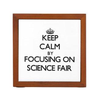 Keep Calm by focusing on Science Fair Pencil/Pen Holder
