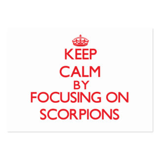 Keep calm by focusing on Scorpions Business Card Template