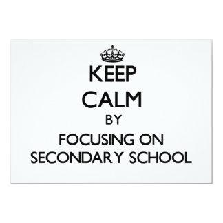 Keep Calm by focusing on Secondary School Custom Announcement
