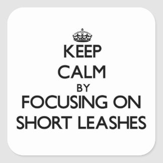 Keep Calm by focusing on Short Leashes Square Sticker