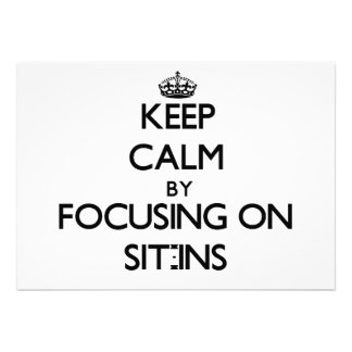Keep Calm by focusing on Sit-Ins Announcement