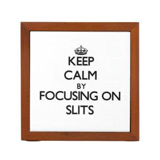 Keep Calm by focusing on Slits Desk Organizers