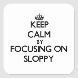 Keep Calm by focusing on Sloppy Sticker