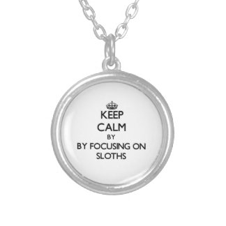 Keep calm by focusing on Sloths Personalized Necklace