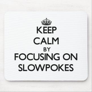 Keep Calm by focusing on Slowpokes Mousepad