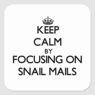 Keep Calm by focusing on Snail Mails Sticker