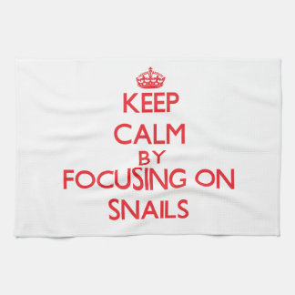 Keep calm by focusing on Snails Hand Towels