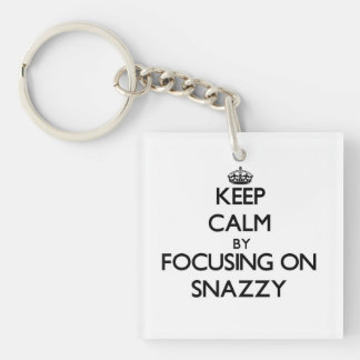 Keep Calm by focusing on Snazzy Acrylic Key Chains