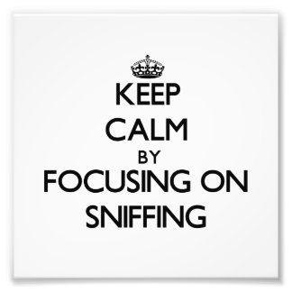 Keep Calm by focusing on Sniffing Art Photo