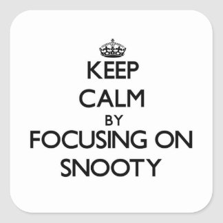 Keep Calm by focusing on Snooty Square Sticker