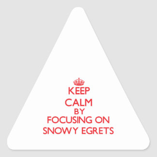 Keep calm by focusing on Snowy Egrets Sticker