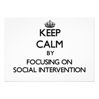 Keep calm by focusing on Social Intervention Personalized Invitation