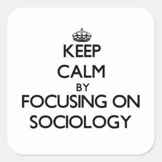 Keep calm by focusing on Sociology Sticker