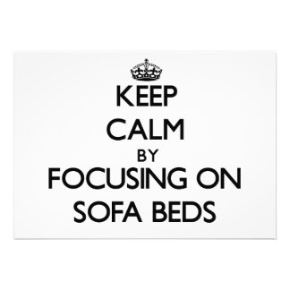 Keep Calm by focusing on Sofa Beds Custom Invitation