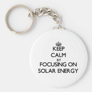 Keep Calm by focusing on Solar Energy Keychains