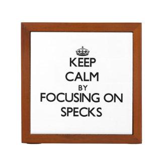Keep Calm by focusing on Specks Desk Organizer