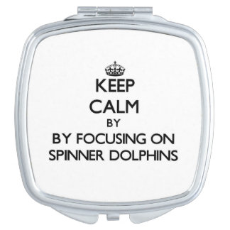 Keep calm by focusing on Spinner Dolphins Compact Mirror