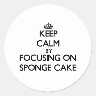 Keep Calm by focusing on Sponge Cake Sticker