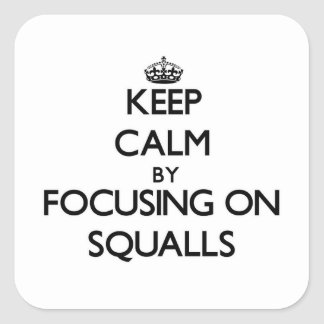 Keep Calm by focusing on Squalls Stickers