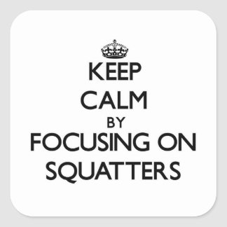 Keep Calm by focusing on Squatters Square Sticker