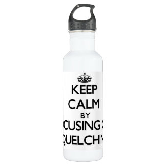 Keep Calm by focusing on Squelching 24oz Water Bottle