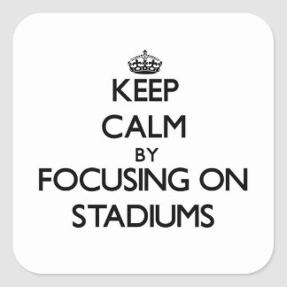 Keep Calm by focusing on Stadiums Square Sticker