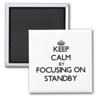 Keep Calm by focusing on Standby Fridge Magnet