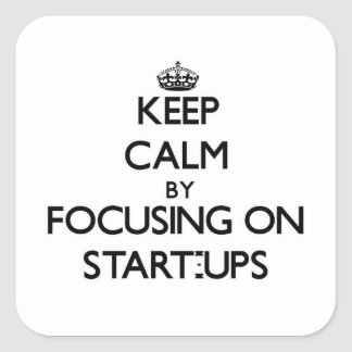 Keep Calm by focusing on Start-Ups Sticker