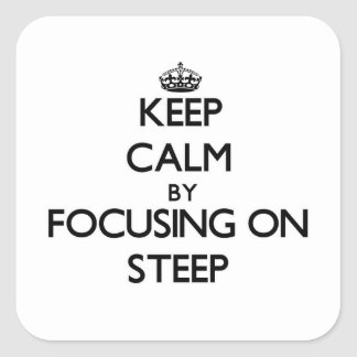 Keep Calm by focusing on Steep Sticker