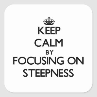Keep Calm by focusing on Steepness Stickers