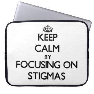 Keep Calm by focusing on Stigmas Laptop Computer Sleeves