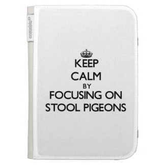 Keep Calm by focusing on Stool Pigeons Kindle 3 Cover