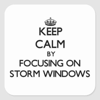 Keep Calm by focusing on Storm Windows Stickers