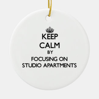 Keep Calm by focusing on Studio Apartments Christmas Tree Ornaments