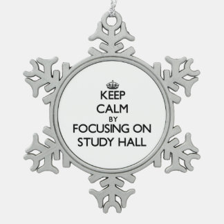 Keep Calm by focusing on Study Hall Snowflake Pewter Christmas Ornament