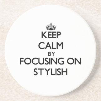 Keep Calm by focusing on Stylish Drink Coaster