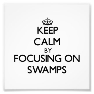 Keep Calm by focusing on Swamps Photo Print