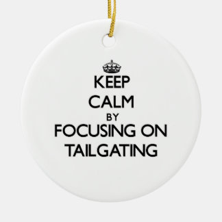 Keep Calm by focusing on Tailgating Christmas Tree Ornaments